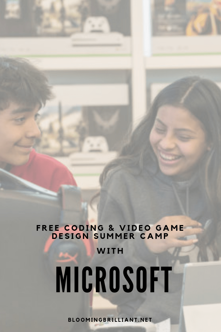 FREE CODING & VIDEO GAME DESIGN SUMMER CAMP WITH MICROSOFT