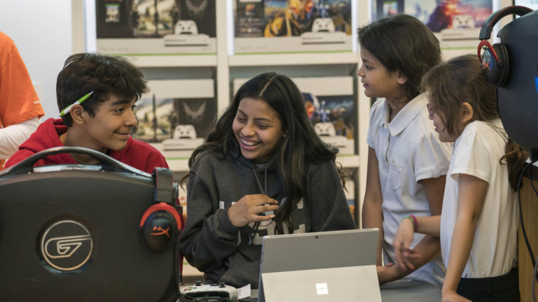 Students participate in a free Summer Camp where they learn to code in the popular world of Harry Potter by casting spells with the Harry Potter Kano Coding kit