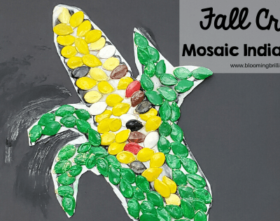 Fall Craft Mosaic Indian Corn