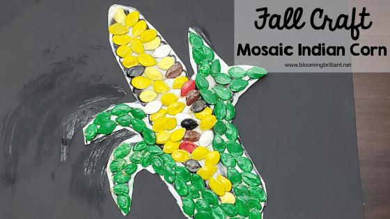 Fall Craft Mosaic Indian Corn