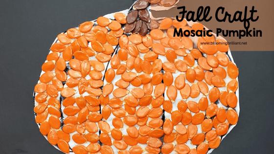 Fall Craft Mosaic Pumpkin