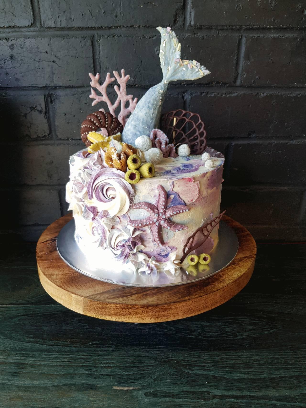 Mermaid Theme Cake Bloominghills