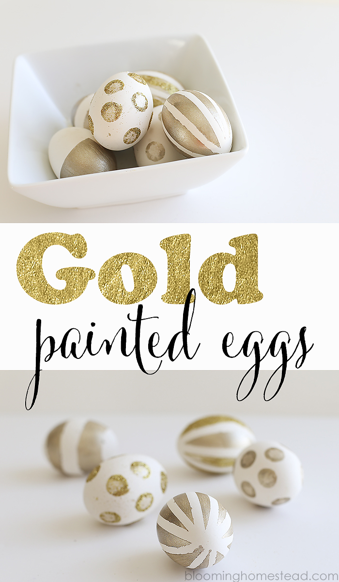 DIY Gold Painted Eggs- super easy to follow tutorial to make these trendy gold striped eggs.