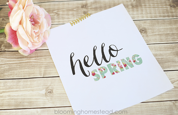 Hello Spring Printable by Blooming Homestead1