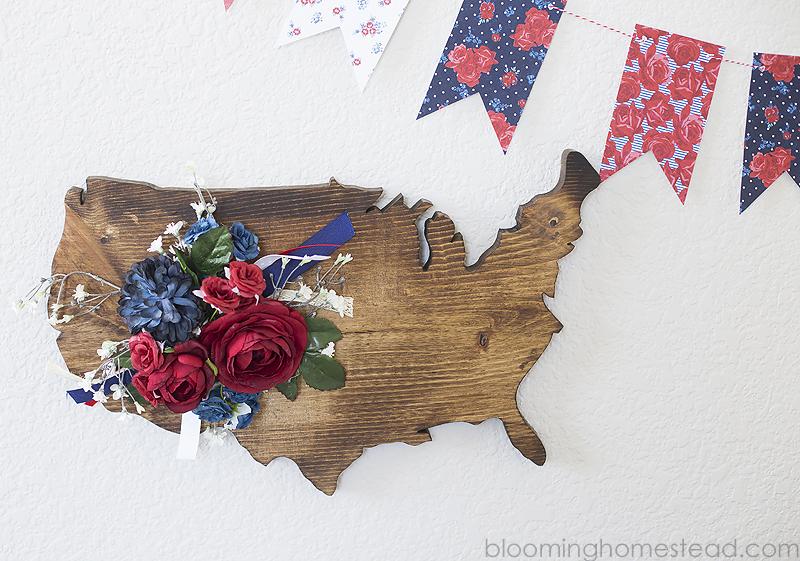 USA Wood Sign