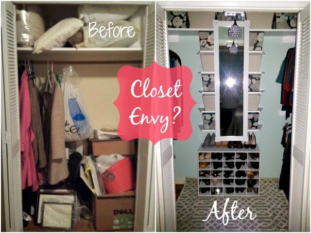Before After Closet DIY