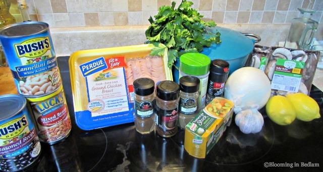 Chicken Chili Ingredients
