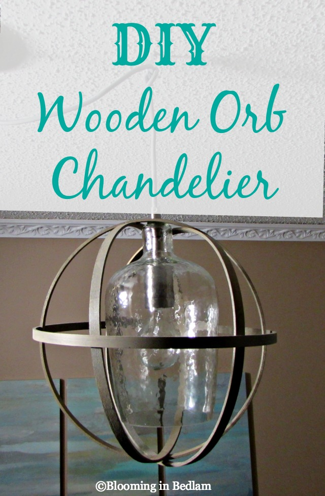 DIY wood orb light