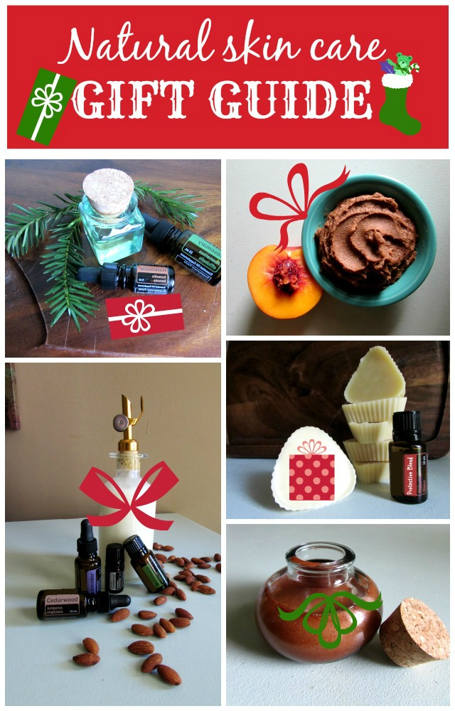 Makeup and Beauty lover in your life? Natural Skin Care Christmas Gift Guide for the all natural beauty in your life using organic, raw ingredients and easy to follow recipe instructions.