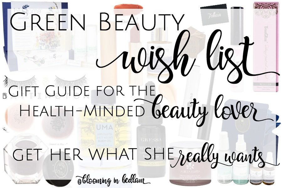 Green Beauty Wish List: Gift Guide for the health-minded beauty lover. If she's trying to detoxify her makeup or skincare, she wants this gift for a birthday or Christmas gift. Perfect choices for every natural beauty. Be it mom, wife, girlfriend, sister or daughter, she is going to to love everything on the best list of green non-toxic beauty products.