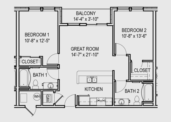 2 Bed Floorplan B2