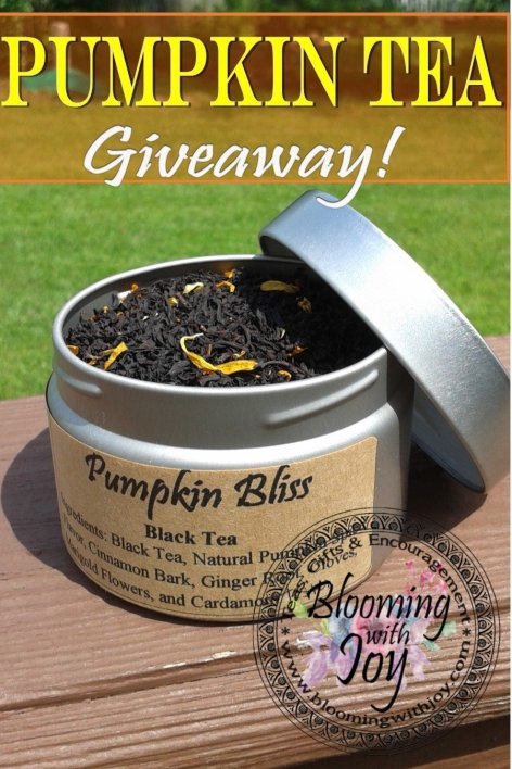 pumpkin tea giveaway
