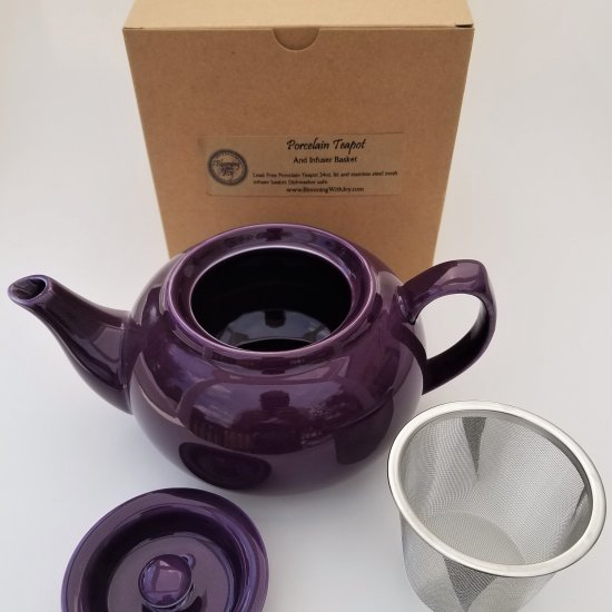 signature purple teapot infuser set