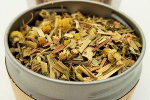 encourage mint tea blooming with joy