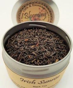 irish sunrise tea blooming with joy