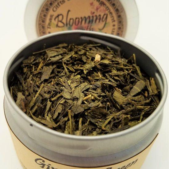 ginseng green tea blooming with joy