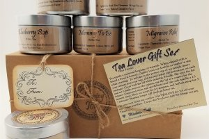 6 loose tea tin gift set