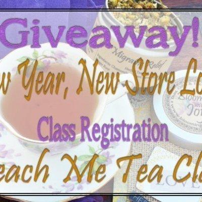 Triple bonus! Giveway, Tea Class, New Look! Here: https://wp.me/p5VkZQ-acZ