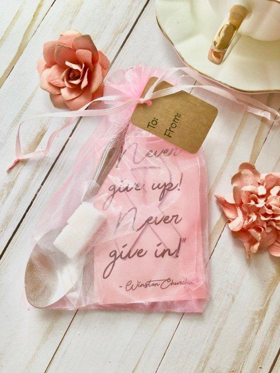 Breast Cancer Survivor Themed Tea Favor