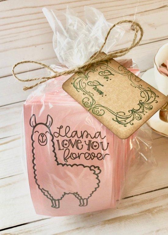 Llama Love you forever tea sampler