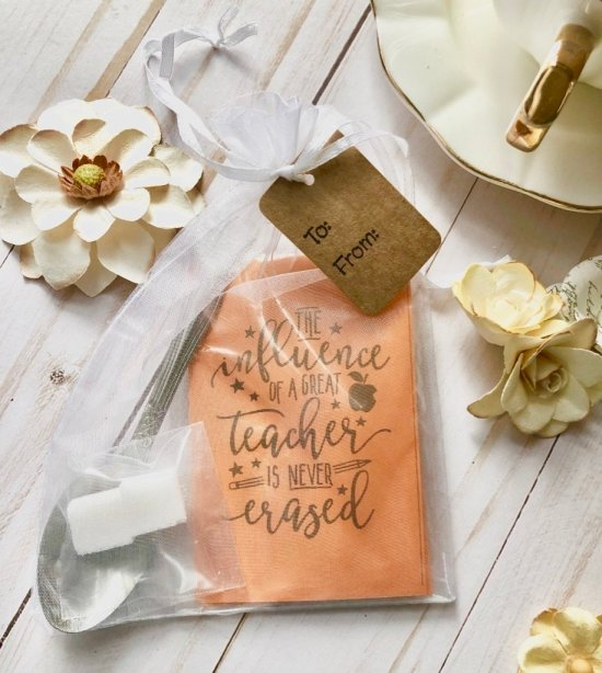 Small Teacher Gift Tea Favor