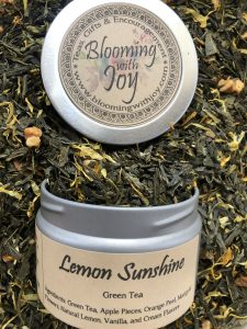 lemon sunshine loose green tea