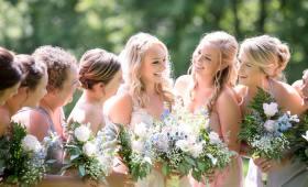 bridesmaid during wedding ceremony