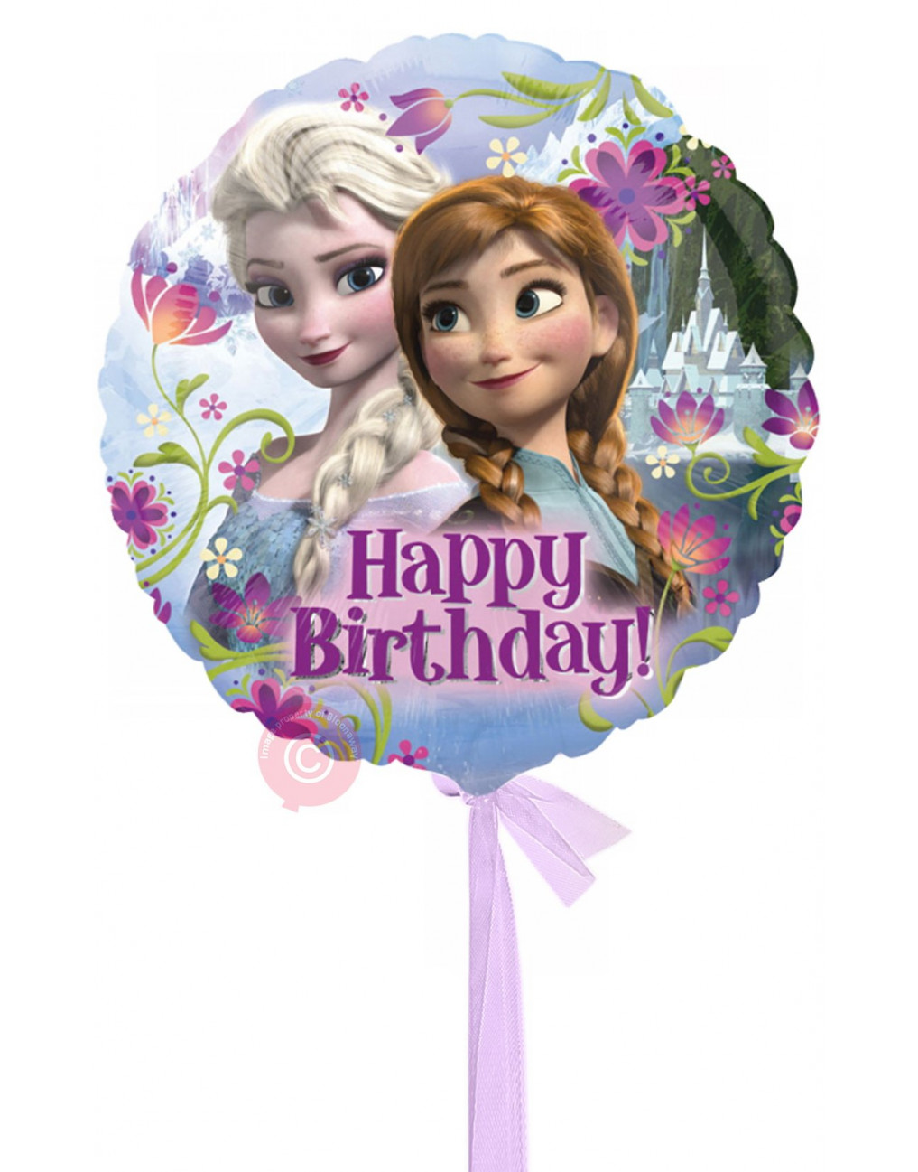 Personalised Frozen Happy Birthday Balloons Delivered Inflated