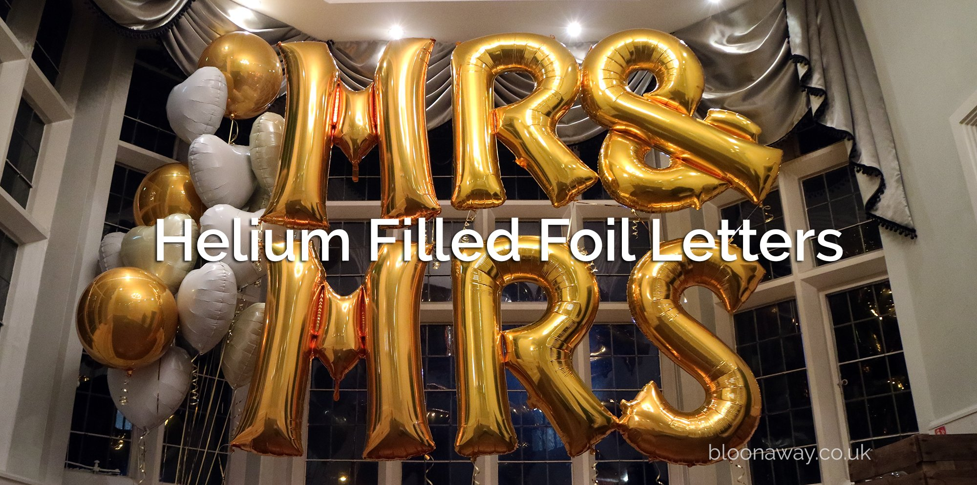 Inflated Helium Letter Balloons Delivered Uk