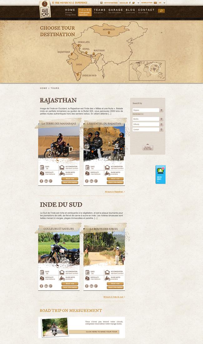 Webdesign – Vintages Rides
