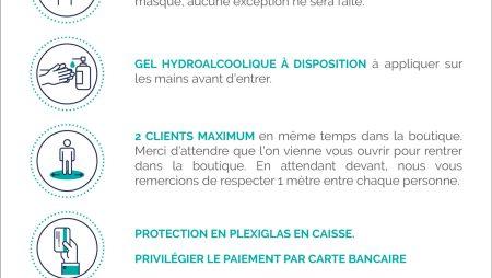 Affiche boutique – Consignes Coronavirus