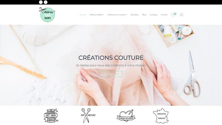 Site internet – Atelier des 1000 Talents