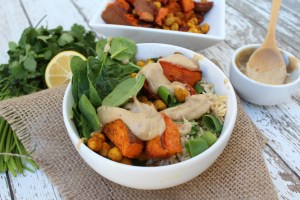 Sweet Potato & Turmeric Chickpea Buddha Bowl