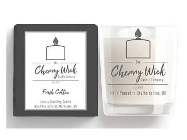 cherry wick candle gift cotton