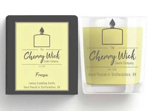 cherry wick candle gift freesia