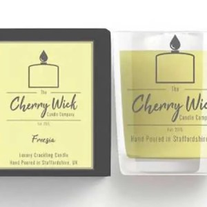 cherry wick candle gift freesia
