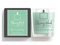 cherry wick candle gift mango