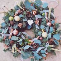 christmas wreath making workshop 121