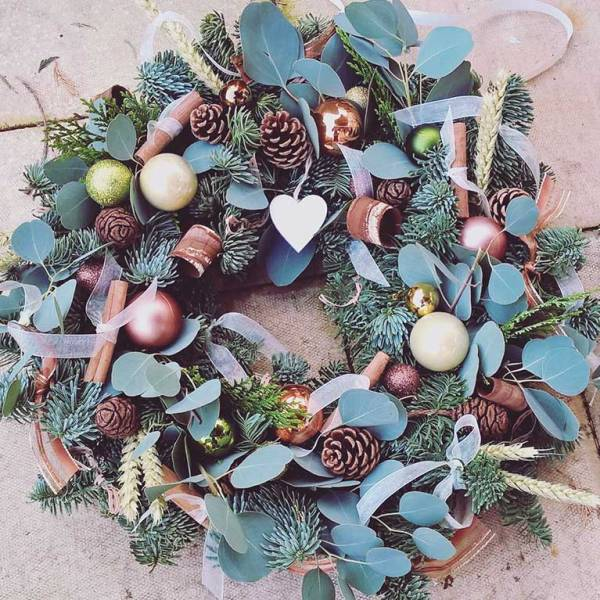 christmas wreath making workshop 121