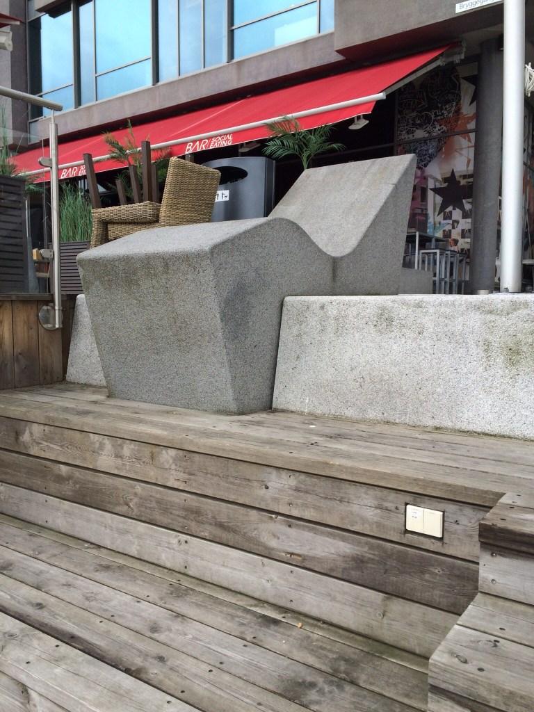 Concrete seat Akker Brygge