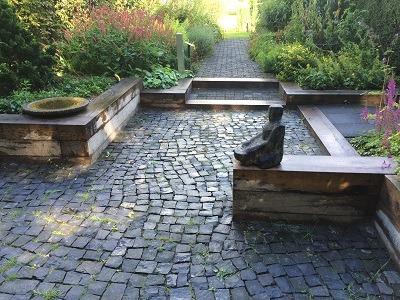railway sleeper sunken garden Mien Ruys