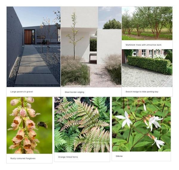 Woodland garden moodboard