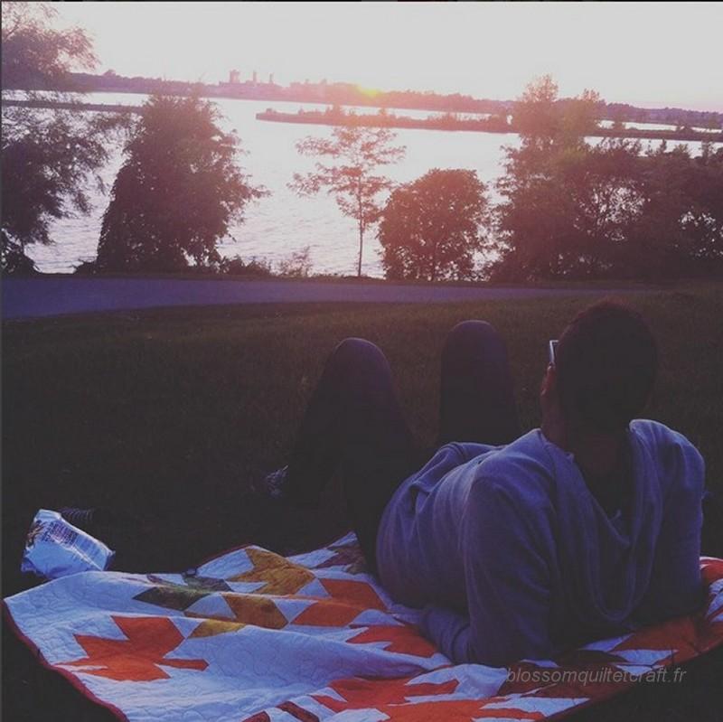 quilt pic nic couche de soleil