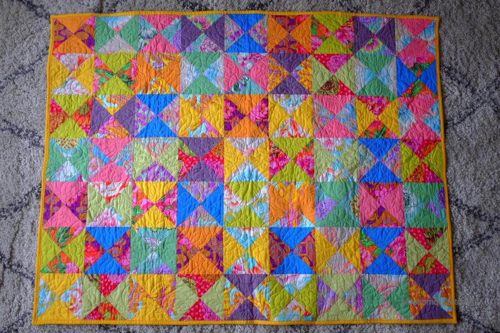 Couverture pour bébé en patchwork