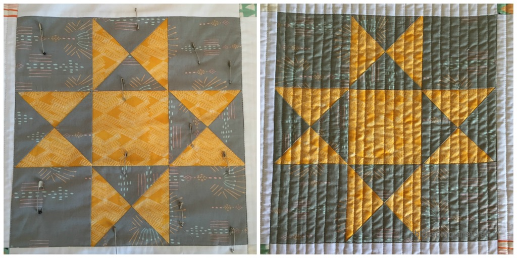 patchwork etoile matelassage