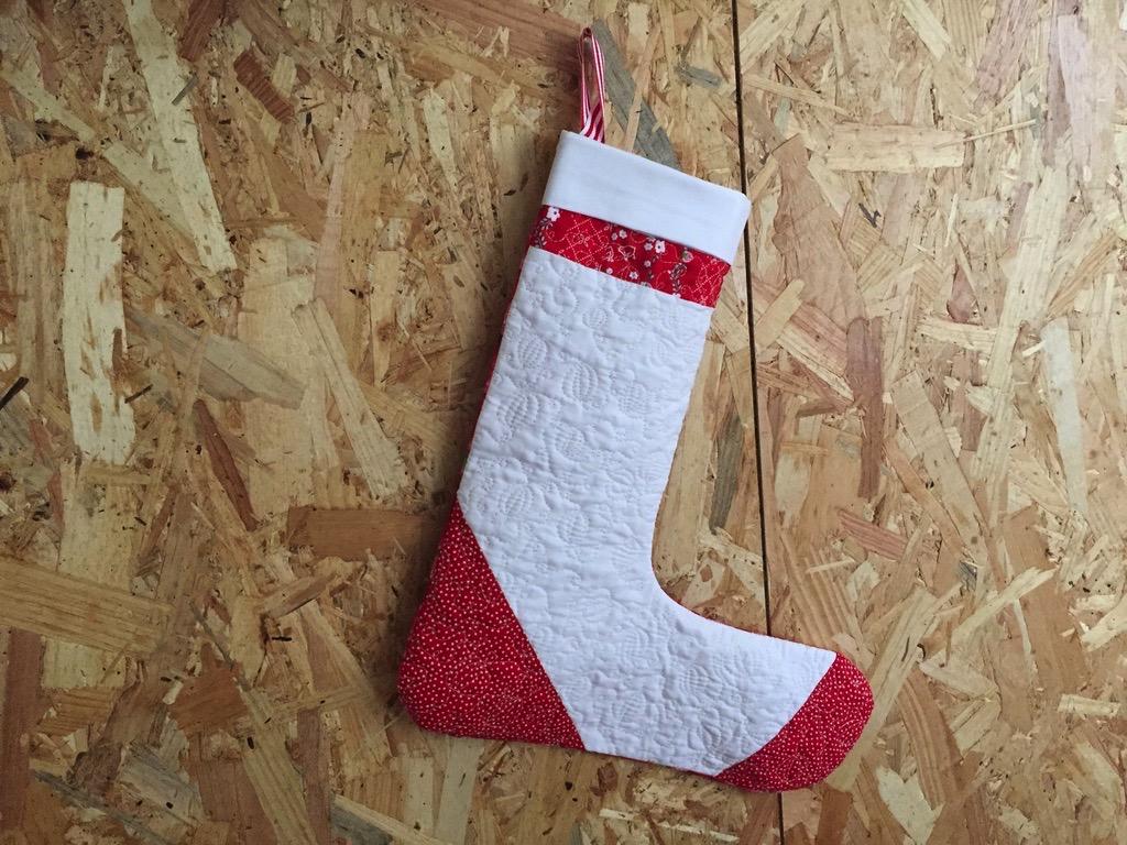 Chaussette de Noël quiltée-1