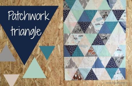 Patchwork triangles pour un petit gars