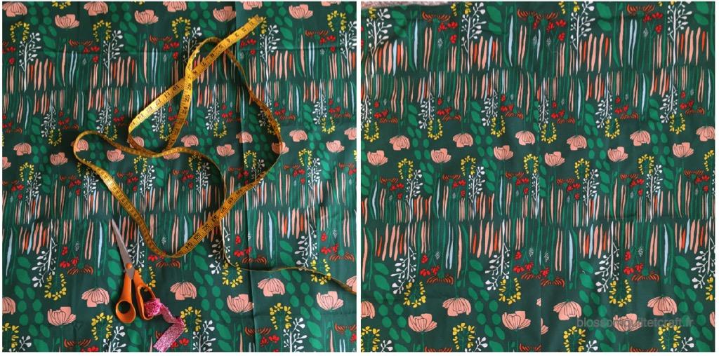 Patchwork le dos choix tissu