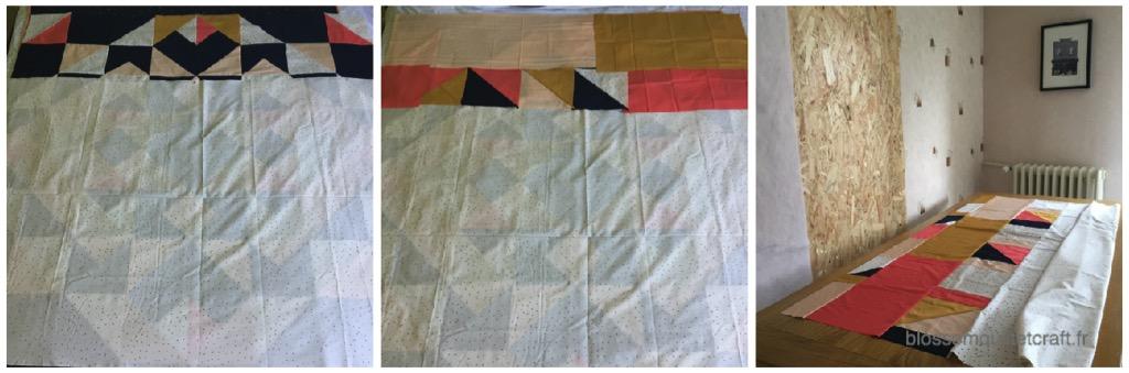 tissu arrière patchwork
