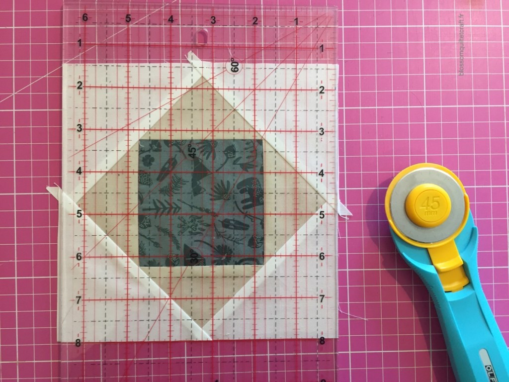 patchwork égaliser un carré